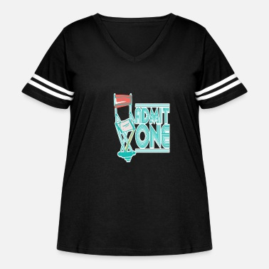 Cinema Movie Vintage Cinema - Women's Curvy Vintage Sport T-Shirt