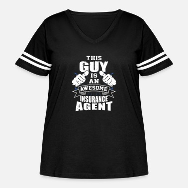 Insurance This Guy Is An Awesome Insurance Agent Funny - Women's Curvy Vintage Sport T-Shirt