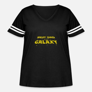 Fantasy Father's Day Gift Best Dad In The Galaxy T Shirt - Women's Curvy Vintage Sport T-Shirt