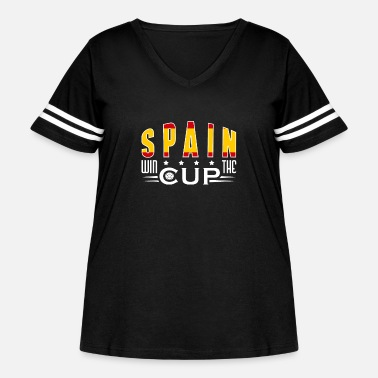 Worldcup Spain Worldcup Shirt - Women's Curvy Vintage Sport T-Shirt