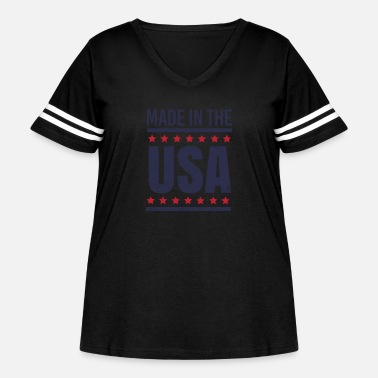 Usa Made in the USA - Women's Curvy Vintage Sport T-Shirt