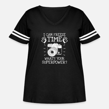 Model I can freeze time what's your superpower? - Women's Curvy Vintage Sport T-Shirt