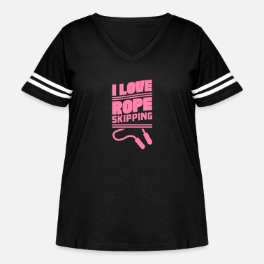 Rope Skip Rope Skipping Ropes - Women's Curvy Vintage Sport T-Shirt