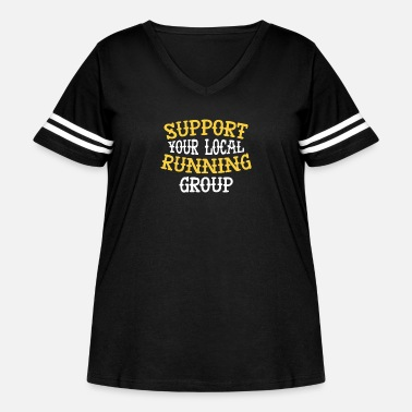 Group Support your local running group member runner - Women's Curvy Vintage Sport T-Shirt