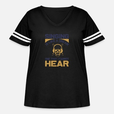 Octave Singing - Without - Women's Curvy Vintage Sport T-Shirt