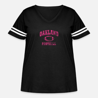 Vintage Breast Cancer Awareness Month Oakland - Women's Curvy Vintage Sport T-Shirt