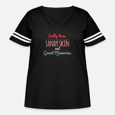 Sun Summer sun holiday sea beach gift - Women's Curvy Vintage Sport T-Shirt