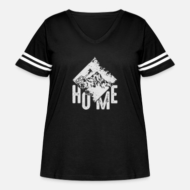 Snowboard Home Ski Mountain Skiing Winter Sports Gift - Women's Curvy Vintage Sport T-Shirt