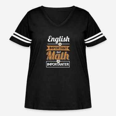 Pi English Is Important But Math Is Importanter - Women's Curvy Vintage Sport T-Shirt