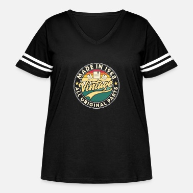 Color Made in 1988 - Women's Curvy Vintage Sport T-Shirt