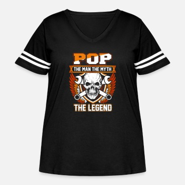 Legend Pop The Man The Myth The Legend - Women's Curvy Vintage Sport T-Shirt