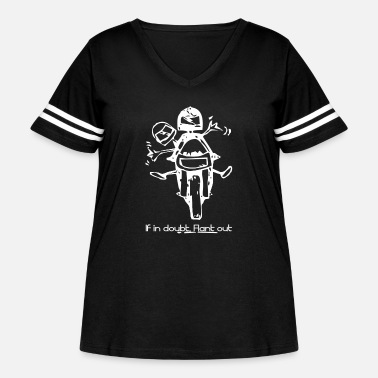 Motorcycle Motorcycle - Women's Curvy Vintage Sport T-Shirt