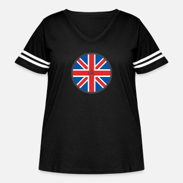Uk UK - Women's Curvy Vintage Sport T-Shirt