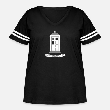 Timelord WHO You Gonna Call? - Women's Curvy Vintage Sport T-Shirt