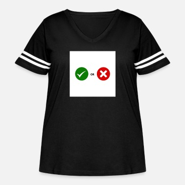 Mark Something Mark and cross mark - Women's Curvy Vintage Sport T-Shirt