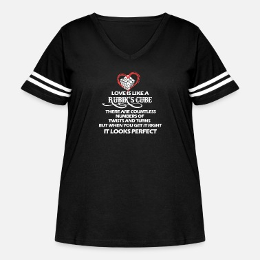 Cube Rubik's cube - There are countless numbers - Women's Curvy Vintage Sport T-Shirt