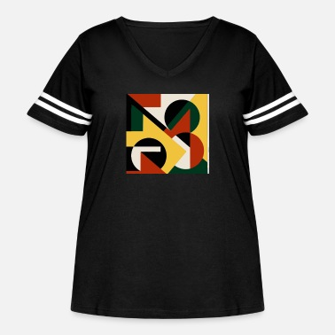 Painting Seamless pattern with chaotic polygons - Women's Curvy Vintage Sport T-Shirt