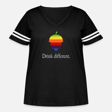 Logo Drink different - hops logo in Apple style - Women's Curvy Vintage Sport T-Shirt
