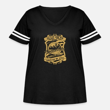 Free State Of Bavaria Regensburg Germany - Forever runs through my vei - Women's Curvy Vintage Sport T-Shirt
