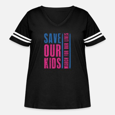 Children Save Our Kids - Women's Curvy Vintage Sport T-Shirt