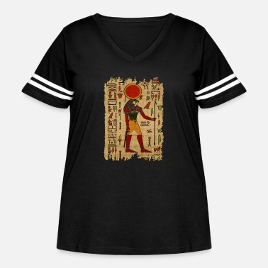 Ancient Egyptian Re-Horakhty - Ra-Horakht Ornament - Women's Curvy Vintage Sport T-Shirt