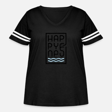 Happyness HappyNess - Women's Curvy Vintage Sport T-Shirt