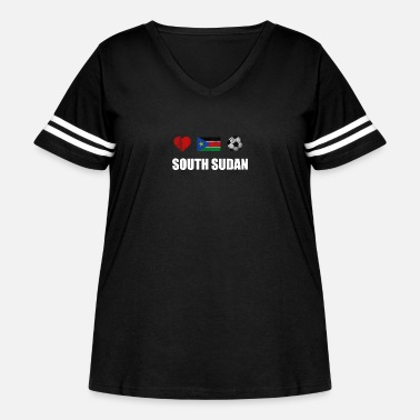 South Sudan South Sudan Football Shirt - South Sudan Soccer Je - Women's Curvy Vintage Sport T-Shirt