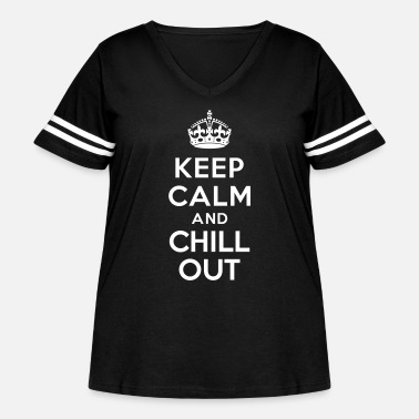 Chill Keep calm and Chill out - Women's Curvy Vintage Sport T-Shirt