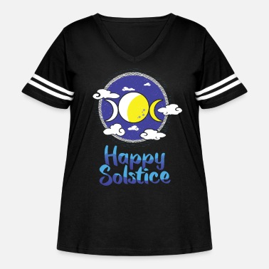 Solstice Happy Solstice Winter Sun December Celestial Event - Women's Curvy Vintage Sport T-Shirt