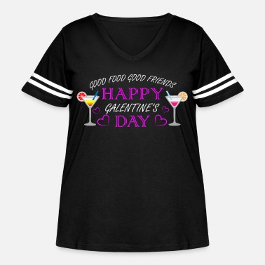 Happy Galentine's Day Ladies Celebrating Ladies - Women's Curvy Vintage Sport T-Shirt