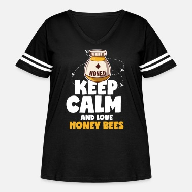 Bee Bee Sweet Honeybees Bottle Hornet Insect - Women's Curvy Vintage Sport T-Shirt