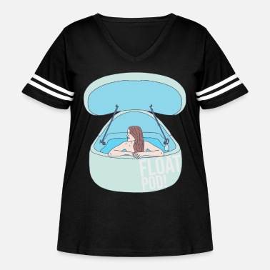 Float Tank Float Pod - Water Tank - Sensory Deprivation - Women's Curvy Vintage Sport T-Shirt