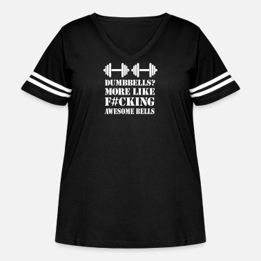 Dumbells Awesome Bells Exercise Work out Apparel - Women's Curvy Vintage Sport T-Shirt