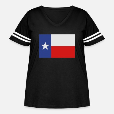 Lone Star Texas Flag - Women's Curvy Vintage Sport T-Shirt