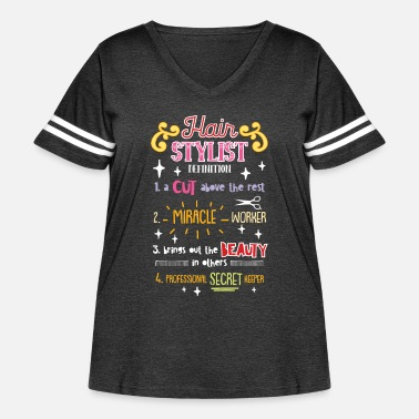 Ink Funny Hairstylist Definition - Women's Curvy Vintage Sport T-Shirt
