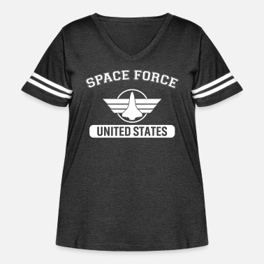 Logo United States Space Force - Women's Curvy Vintage Sport T-Shirt