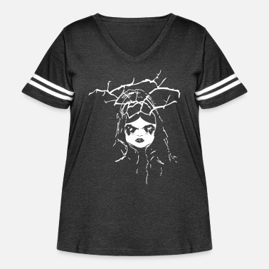 Doll creepy dollface - Women's Curvy Vintage Sport T-Shirt