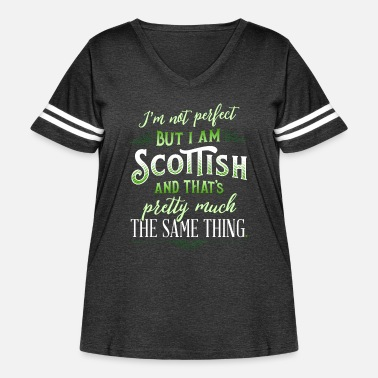 Clan Funny Scottish Quote Im Not Perfect But Im Scottis - Women's Curvy Vintage Sport T-Shirt