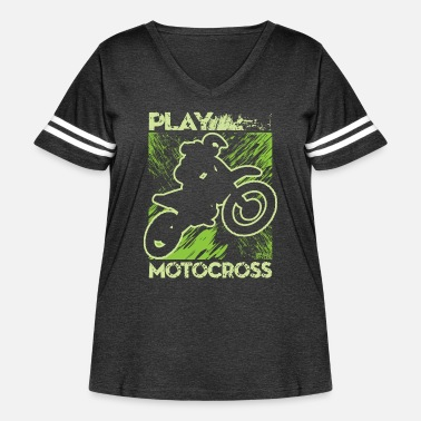Hobby Dirt Bike Play Dirty - Women's Curvy Vintage Sport T-Shirt