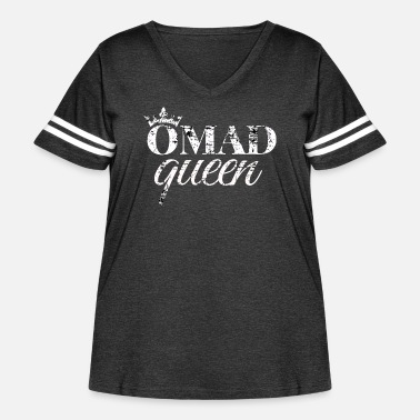 OMAD Queen Intermittent Fasting - Women's Curvy Vintage Sport T-Shirt