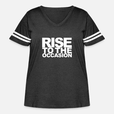 Occasion Rise to the Occasion White - Women's Curvy Vintage Sport T-Shirt