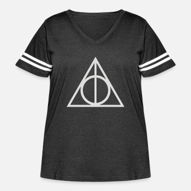 Deathly Deathly hallows - Women's Curvy Vintage Sport T-Shirt