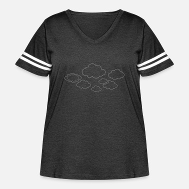 Cloud Clouds - Women's Curvy Vintage Sport T-Shirt