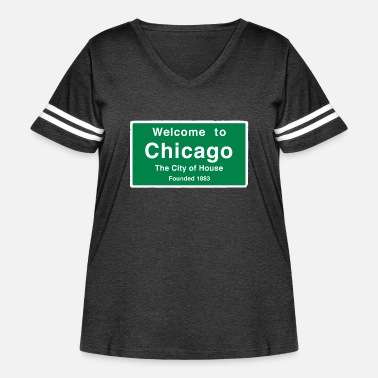 Chicago Chicago The City of House - Women's Curvy Vintage Sport T-Shirt