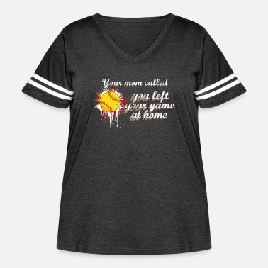 Softball SOFTBALL GAME AT HOME - Women's Curvy Vintage Sport T-Shirt