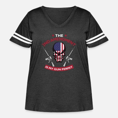 1791 The 2nd Amendment Is My Gun Permit Shirt - Women's Curvy Vintage Sport T-Shirt