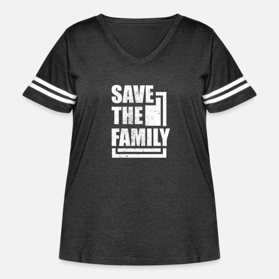 Family Tshirt T-Shirts - Family - Save The Family - Women's Curvy Vintage Sport T-Shirt vintage smoke/white