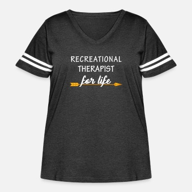 Recreational Recreational therapist - Recreational therapist fo - Women's Curvy Vintage Sport T-Shirt