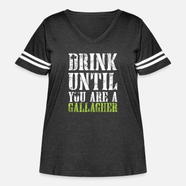 Noel Drink Until You are Gallagher Shirt - Women's Curvy Vintage Sport T-Shirt
