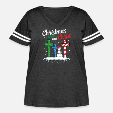 December Christmas Begins With Christ Annual Festival - Women's Curvy Vintage Sport T-Shirt